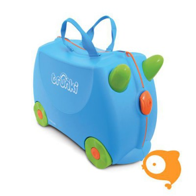 Trunki - Kinderkoffer ride-on blauw