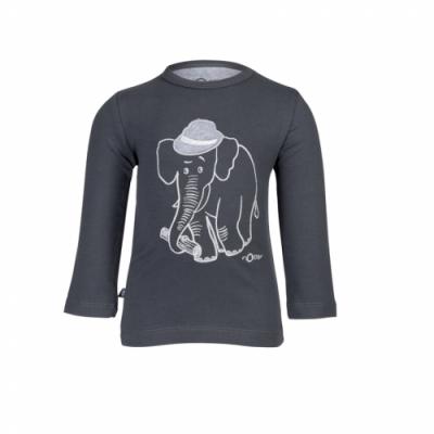 nOeser - Fly away bas longsleeve elephant charcoal