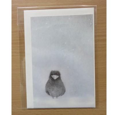 Onar Originals - Enkele kaart vogeltje in sneeuw nr 14