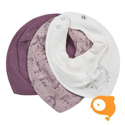 Pippi - Scarf bib girl - set van 3 stuks - violet ice