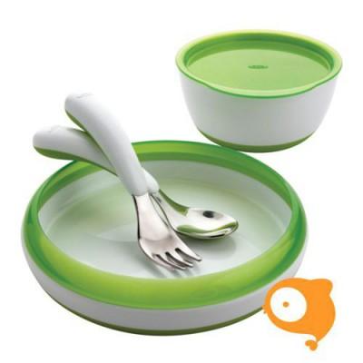 OXO tot - Vierdelige eetset - groen