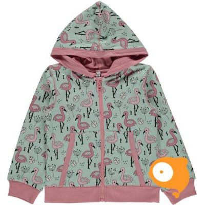 Maxomorra - Cardigan Hood Sweet Flamingo