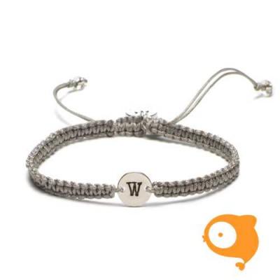 Proud Mama - Armband met initiaal W