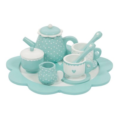 Little Dutch - Theeservies hout - mint