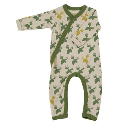 Pigeon - pyjama romper moose head - green/pumice