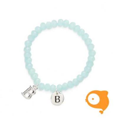 Mie Toe - Dochter armbandje met initiaal B