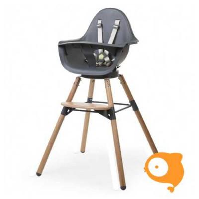 Childhome - Evolu one.80° stoel naturel/antraciet 2 in 1