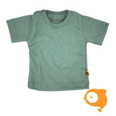 Wooden Buttons - T-shirt blauw-groen