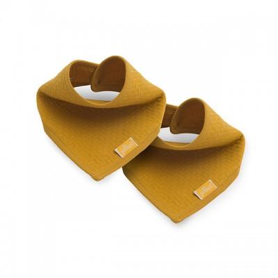 Jollein - slab bandana Brick velvet mustard (2 stuks)