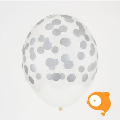 My little day - Ballonnen confetti zilver- set van 5