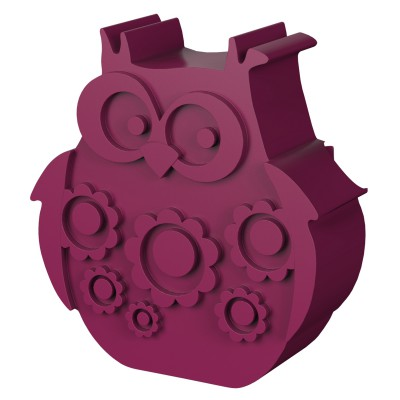 Blafre - lunchbox owl plum red