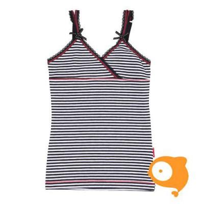 Claesen's - Onderhemd voor meisjes zwart/wit gestreept