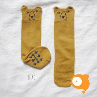 Lala - Kuma Knee Socks Oker
