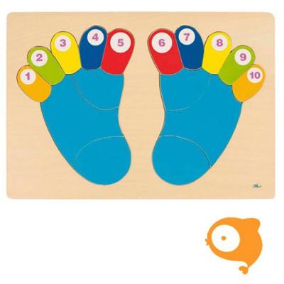 Goki - Puzzel tenen tellen