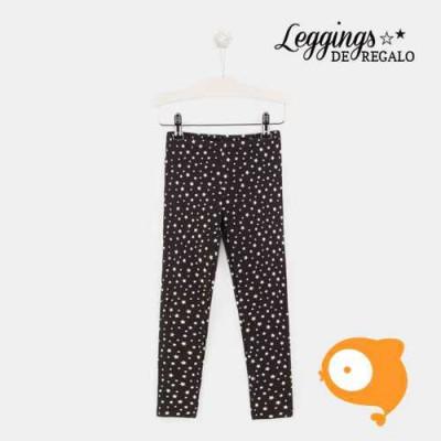 Conguitos - Legging zwart met zilveren sterren