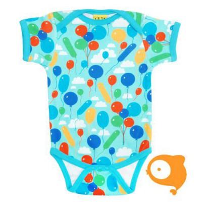 Duns - Body korte mouwen - Balloons turquiose