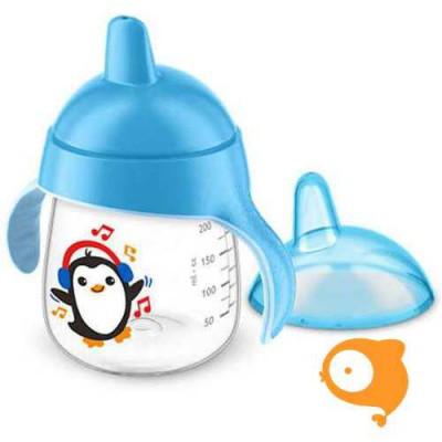 Avent - Lekvrije Pinguin beker 260ml Blauw