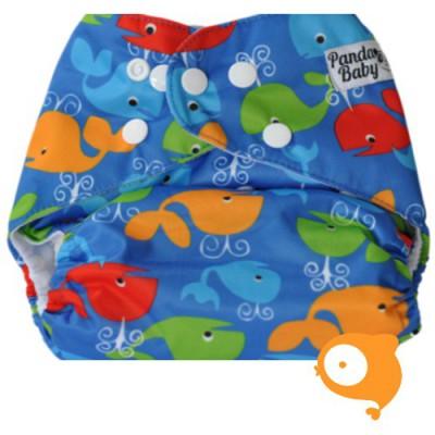Pandababy - Uitwasbare Zwemluier (drukkers) Walvis