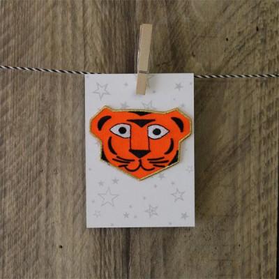 Iron on patch strijkapplicatie tiger