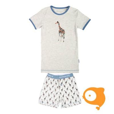 Claesen's - Pyjamaset ss jongens LT. grijs giraf
