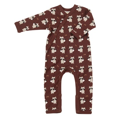 Pigeon - pyjama romper raccoon - spice