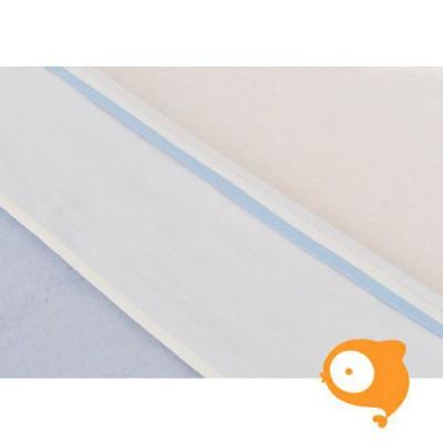 Jollein - Laken wit met bies lichtblauw (75x100cm)