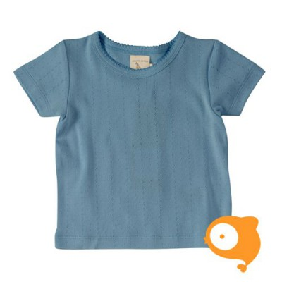 Pigeon - Pointelle T-shirt adriatic blue