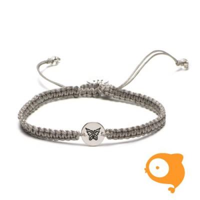 Proud Mama - Armband initials vlinder
