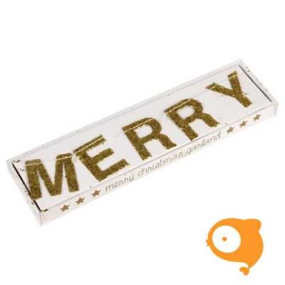 Rexinter - Slinger merry christmas goud