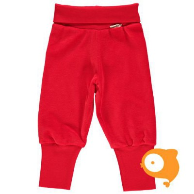 Maxomorra - Pants rib velour red