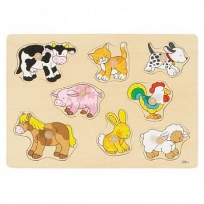 Goki - Steekpuzzel dieren van de boerderij