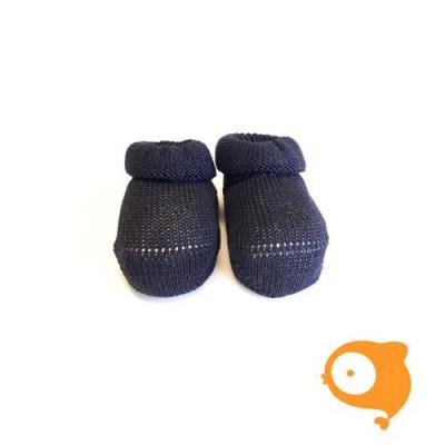 Fior di Coccole - Gebreide sokjes donkerblauw Newborn (Katoen)