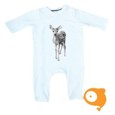 Miss princess and little frog - Bodysuit/pyjama longsleeve tencel bambi