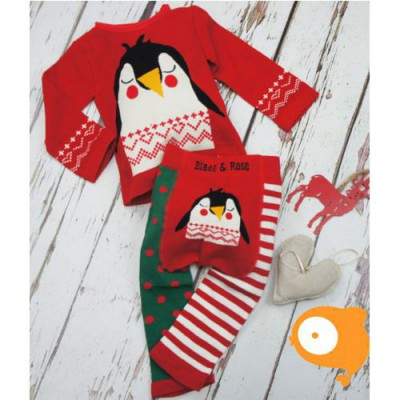 Blade&Rose - Christmas penguin winter longsleeve en legging (set)