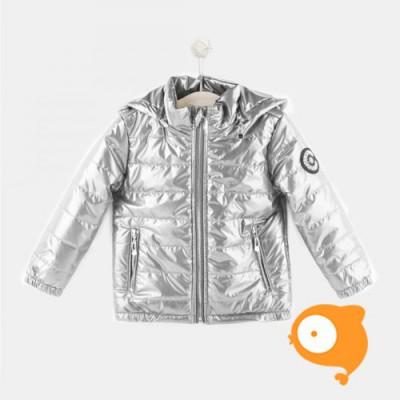 Conguitos - Zilveren jas met afneembare kap