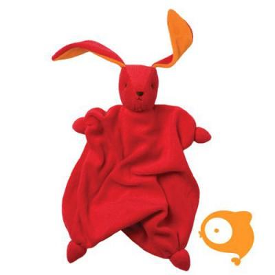 Peppa - Knuffel Tino rood/oranje organic/bio