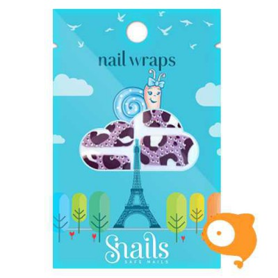 Snails - Nail wrap - Purple  Zebra