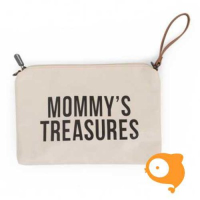 Childhome - Clutch 'mommy's treasures' ecru wit