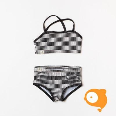 Albababy - Bikini gerthie antique white split striped UV50+