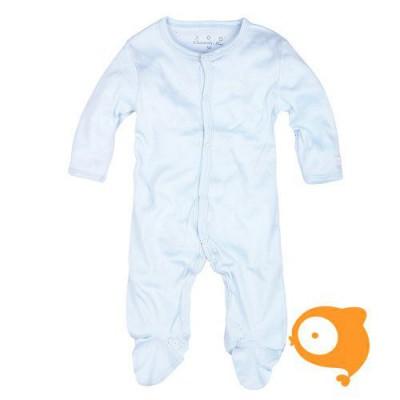 Claesen's - Newborn kruippakje met voeten en lange mouwen baby blauw