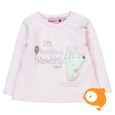 Boboli - Longsleeve baby friendship roze