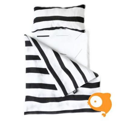 Ooh Noo - Beddengoed poppenwagentje zebra