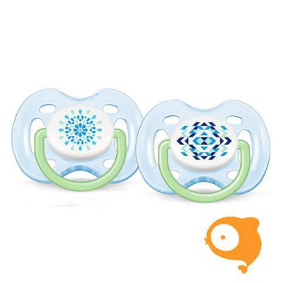 Avent - Fopspeen +0m Freeflow Blue tendens