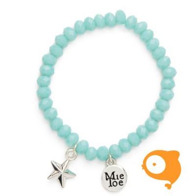 Mie Toe - Dochter armbandje star blue