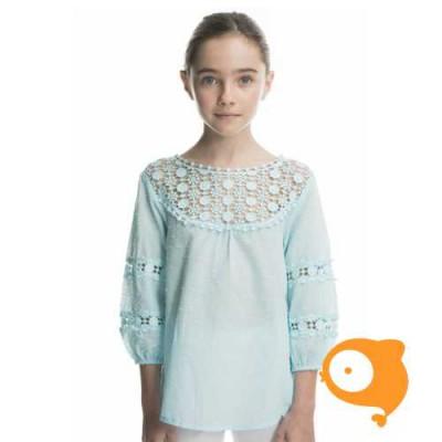 Rosalita señoritas - Deerhound blouse met details in kant blauw