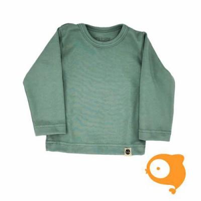 Wooden Buttons - Longsleeve blauw-groen