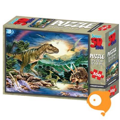 Prime 3D - Puzzel 100 stukjes 'Tyrannosaurus'