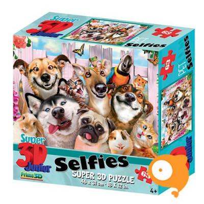 Prime 3D - Puzzel 63 stukjes 'Huisdieren selfie'