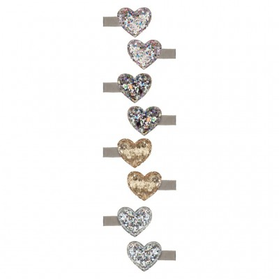 Mimi & Lula  - disco glitter sweetheart clips