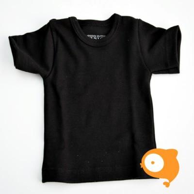 Wooden Buttons - T-shirt zwart